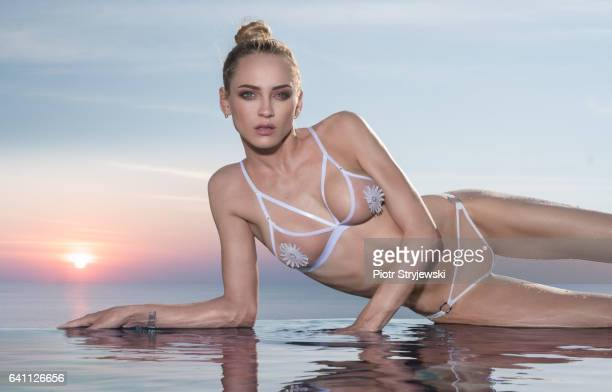 stunning beauty by the pool - knickers photos stock pictures, royalty-free photos & images