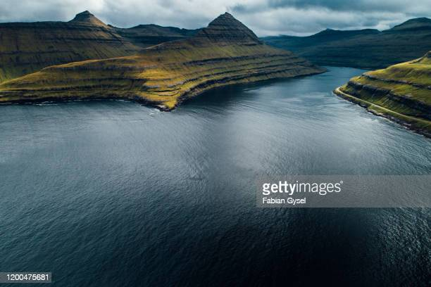 stunning faroe islands landscape - faroe islands stock pictures, royalty-free photos & images