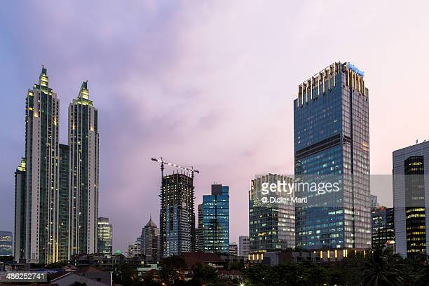 stunning jakarta, the capital city of indonesia - didier marti stock photos and pictures