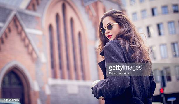 stunning lady - moda stock photos and pictures