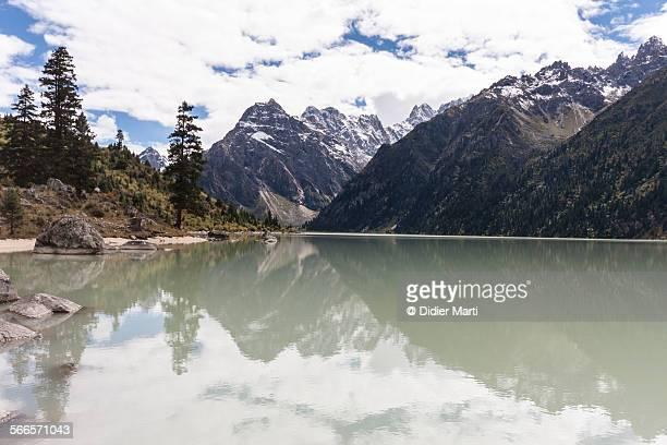 Stunning lake in Sichuan, China