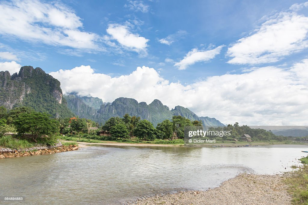 Stunning landscape in Laos : Stock Photo