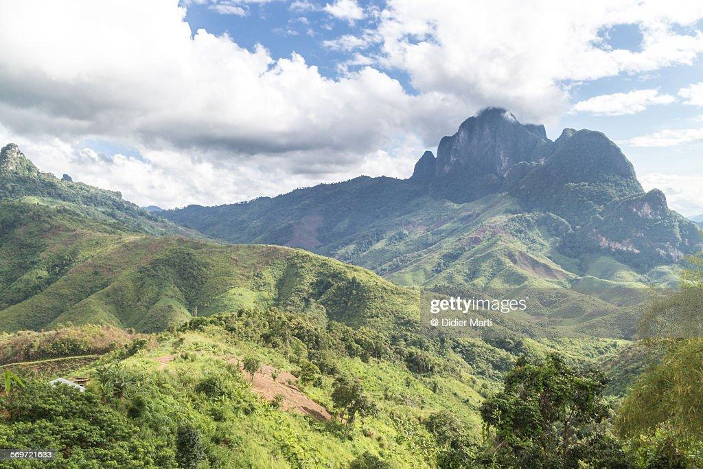 Stunning landscape in Laos : Stock Photo