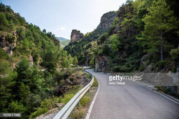 Stunning mountain road with curves in the Pyrenees.