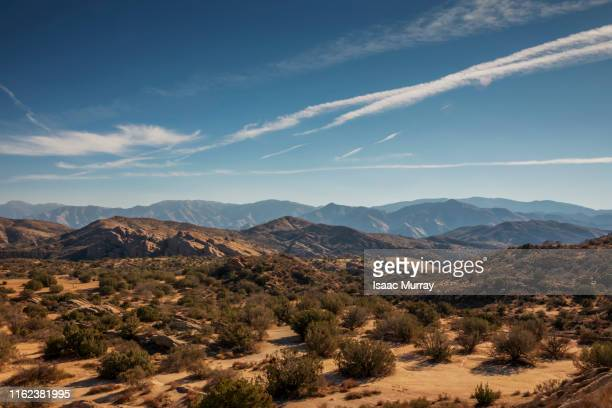 stunning panoramic view of the agua dulce area - los angeles mountains stock pictures, royalty-free photos & images