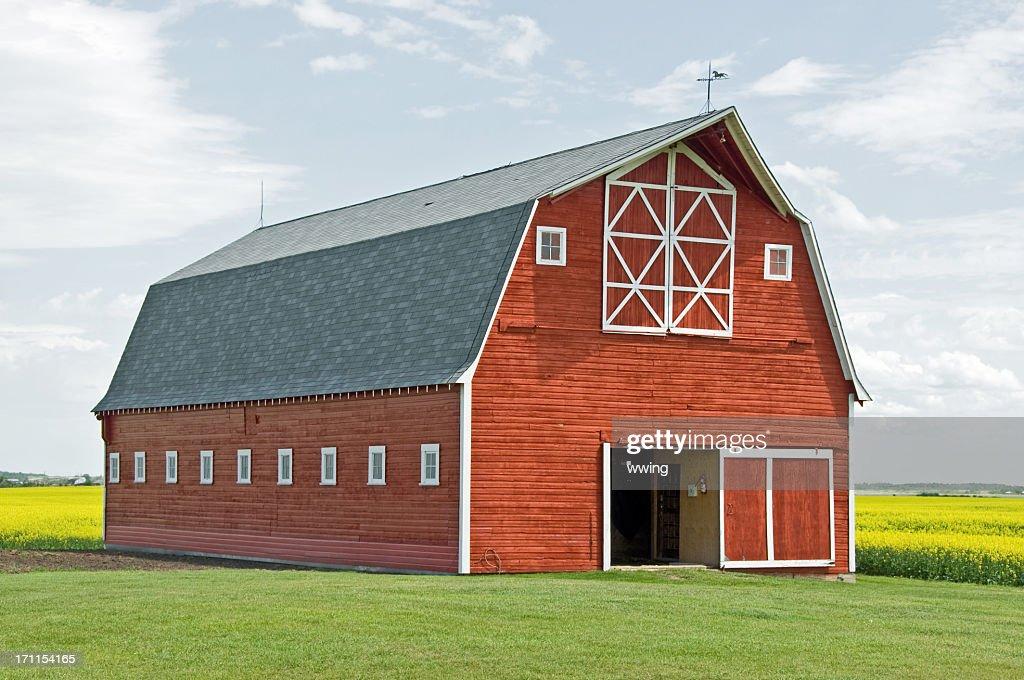 Stunning Red Barn Close-up : Stock Photo