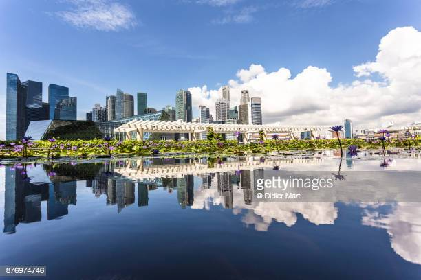 Stunning reflection of Singapore financial district