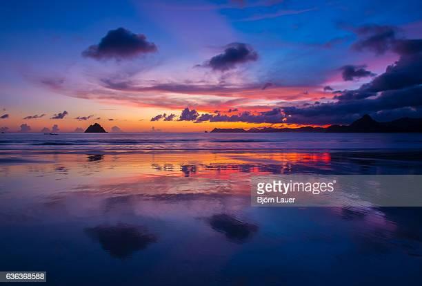 stunning sunset in Lombok (Indonesia)