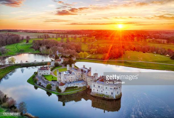 Stunning sunset over Leeds Castle in Kent. The castle was established in 1119 and has hosted many famous faces including Winston Churchill, JFK and...