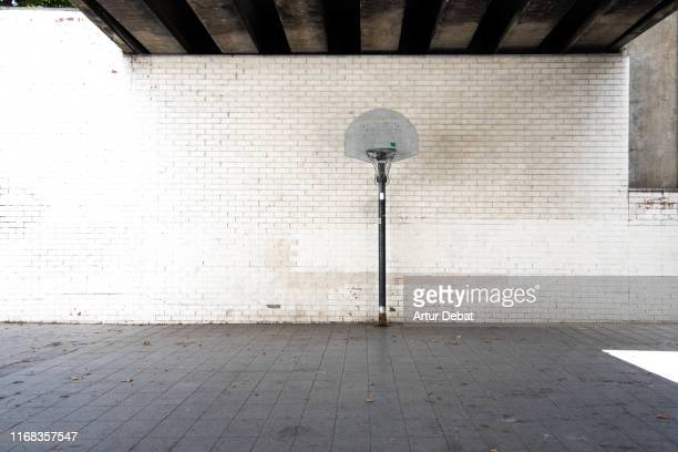 stunning urban basketball court in barcelona city. - city life stock pictures, royalty-free photos & images