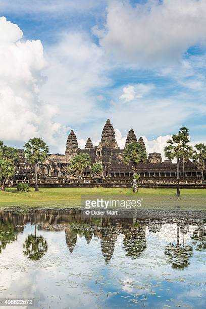 stunning view of angkor wat in cambodia - didier marti stock photos and pictures