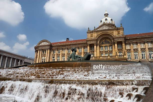 a stunning view of birmingham victoria square  - west midlands stock pictures, royalty-free photos & images