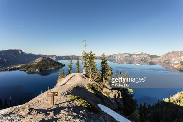 Stunning view of Crater lake in Oregon, USA