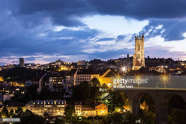 A stunning view of Fribourg old town