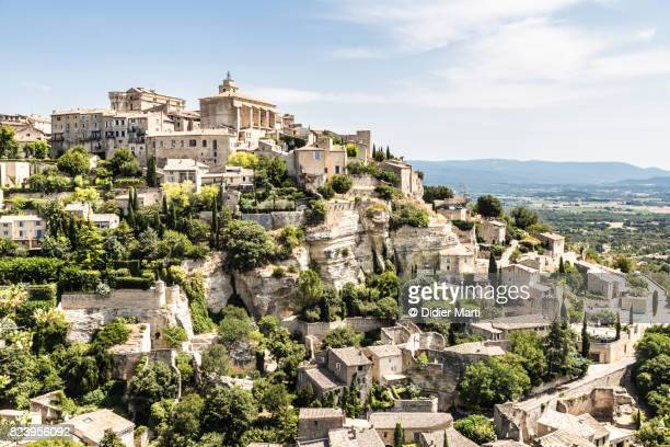 Stunning view of Gordes, a famous hilltop village in Provence, France