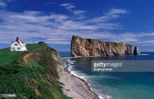 A stunning view of the gaspe perce rock in Quebec Canada
