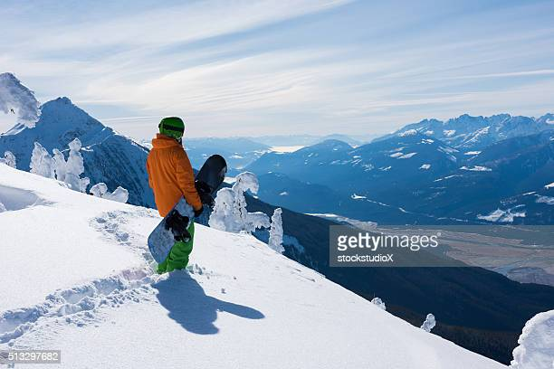stunning views at revelstoke mountain resort - ski holiday stock photos and pictures