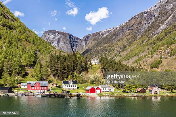 Stunning village along the Sognefjord in Norway