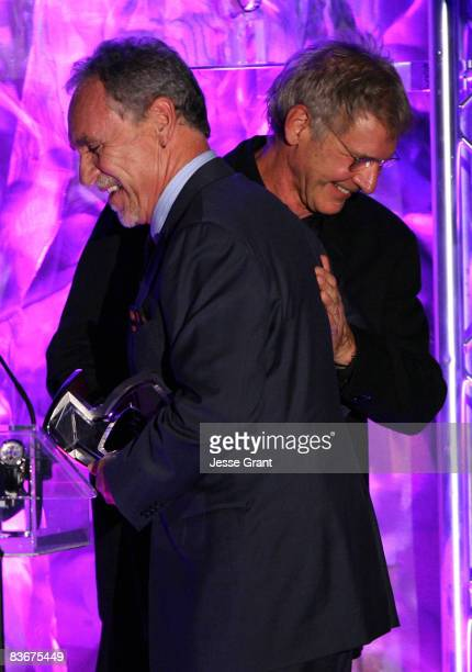 Stunt choreographer Doug Coleman and actor Harrison Ford during The Behind the Camera Awards held at The Highlands on November 9, 2008 in Hollywood,...