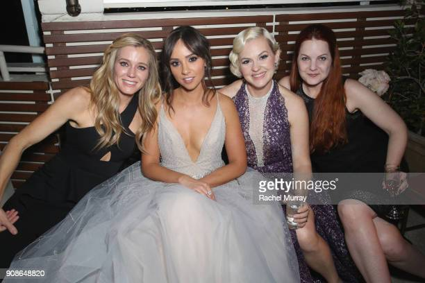 Stunt coordinator Shauna Duggins actor Britt Baron and actor Kimmy Gatewood and attend Netflix Hosts The SAG After Party At The Sunset Tower Hotel on...
