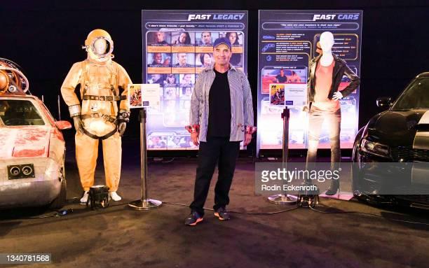 Stunt coordinator Spiro Razatos poses for a portrait at the F9 Fest event on the Universal Studios backlot celebrating F9: The Fast Saga on September...