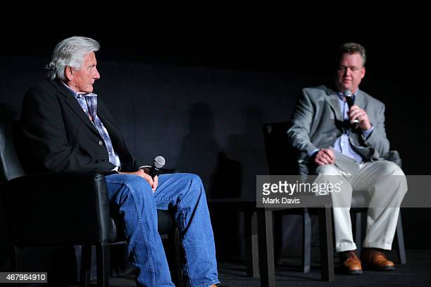 Stunt coordinator Terry Leonard and TCM Director of Program Production Studio Production Programming Scott McGee speak onstage before the screening...