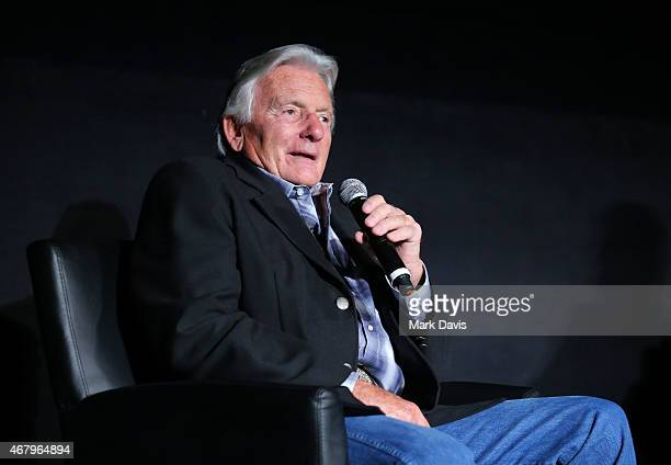 Stunt coordinator Terry Leonard speaks onstage before the screening of 'The Wind and the Lion' during day three of the 2015 TCM Classic Film Festival...