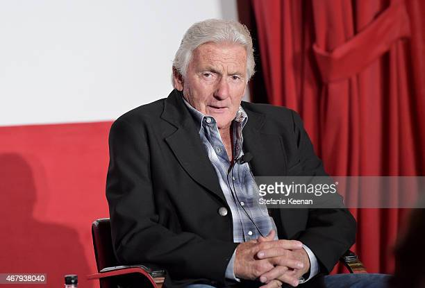 Stunt coordinator Terry Leonard speaks onstage during 'A Conversation With Terry Leonard' on day three of the 2015 TCM Classic Film Festival on March...