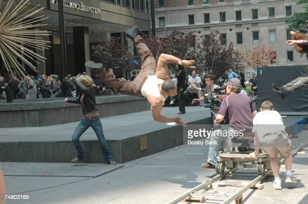 Stunt crew at the Midtown Manhattan in New York City New York