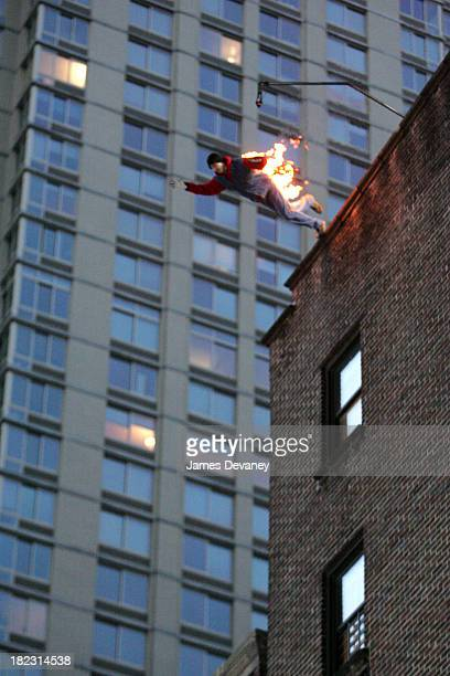 Person Jumping Off Building