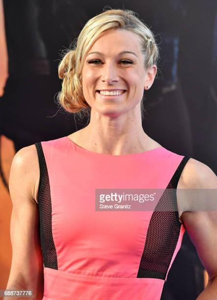 Stunt woman Jessie Graff arrives at the Premiere Of Warner Bros Pictures' 'Wonder Woman' at the Pantages Theatre on May 25 2017 in Hollywood...