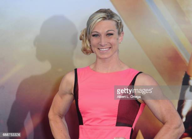 Stunt woman Jessie Graff arrives for the Premiere Of Warner Bros Pictures' 'Wonder Woman' held at the Pantages Theatre on May 25 2017 in Hollywood...