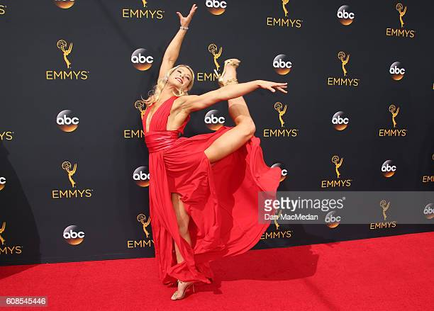 Stunt woman Jessie Graff attends the 68th Annual Primetime Emmy Awards at Microsoft Theater on September 18 2016 in Los Angeles California