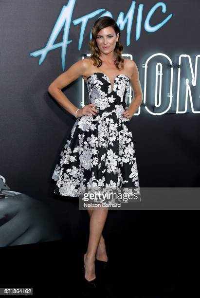 Stunt woman Monique Ganderton attends Focus Features' 'Atomic Blonde' premiere at The Theatre at Ace Hotel on July 24 2017 in Los Angeles California