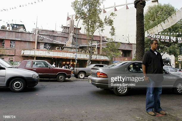 A stuntman stands in for actor Denzel Washington while filming a scene of the film Man On Fire May 14 2003 in Mexico City Mexico