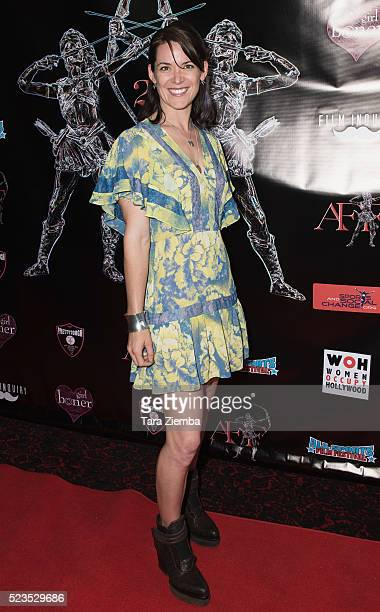 Stuntwoman Maja Aro attends the 2nd Annual Artemis Film FestivalRed Carpet Opening Night/Awards Presentation at Ahrya Fine Arts Movie Theater on...