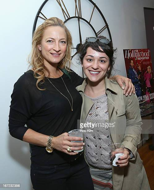 Stuntwoman Zoe Bell and producer Danielle Firoozi attend the Producers Reception during the 2013 Tribeca Film Festival April 22 2013 in New York City