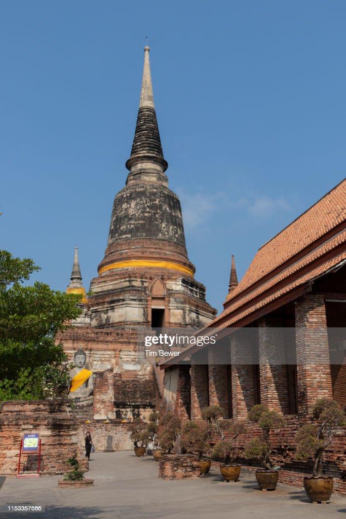 Stupa at Wat Yai Chai Mongkhon. : Stock Photo