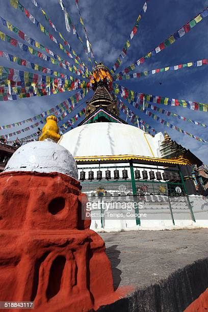 stupa in kathmandu, nepal - dietmar temps stock pictures, royalty-free photos & images
