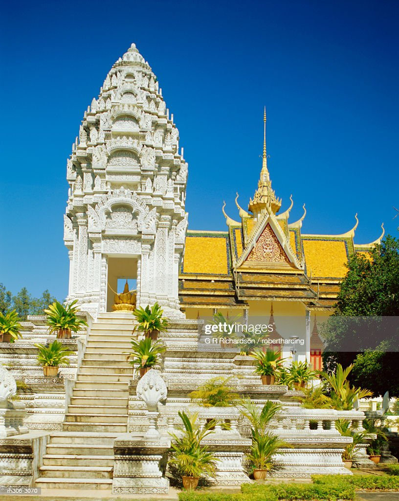 Stupa of Sihanouk's daughter, Royal Palace, Phnom Penh, Cambodia : Stockfoto