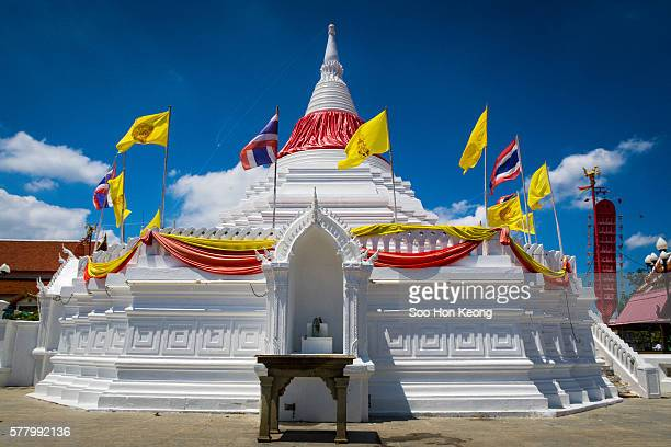 Stupa of Wat Poramai Yikawat in Koh Kret, Thailand