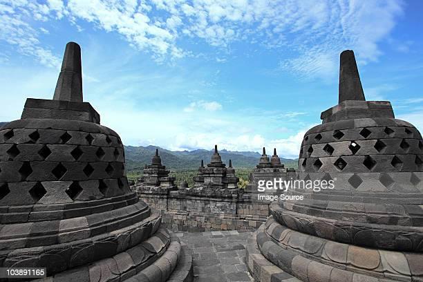 Stupas at borobudur