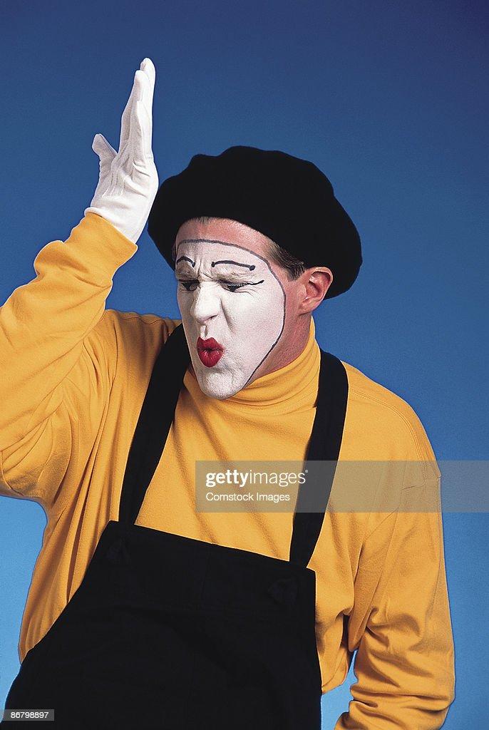 Stupid mime : Stock Photo