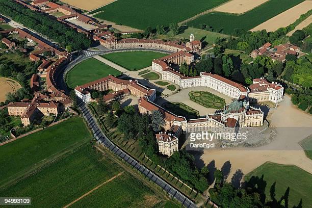 Stupinigi Palais royal, vue aérienne de l'architecture de style baroque italien wonderful