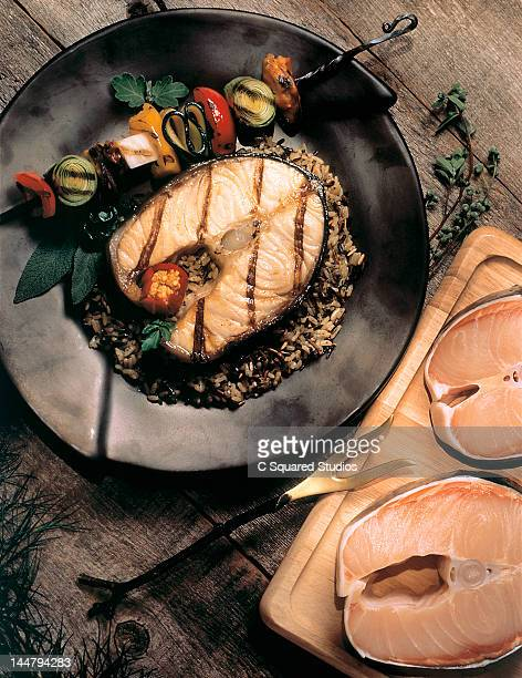 sturgeon steaks - sturgeon fish stock pictures, royalty-free photos & images