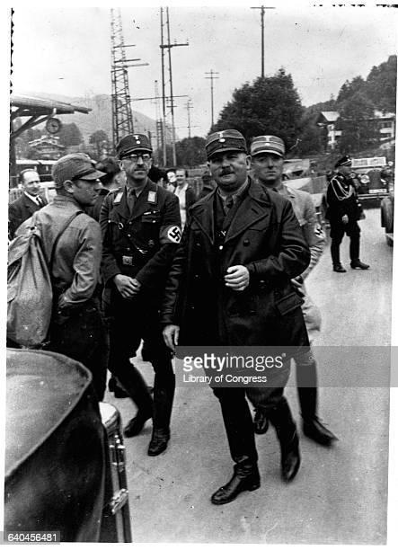 Sturmabteilung Leader Ernst Rohm with Nazi Soldiers