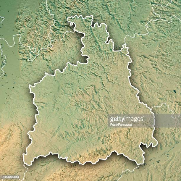 stuttgart administrative region baden-württemberg 3d render topographic map border - frank ramspott stock pictures, royalty-free photos & images