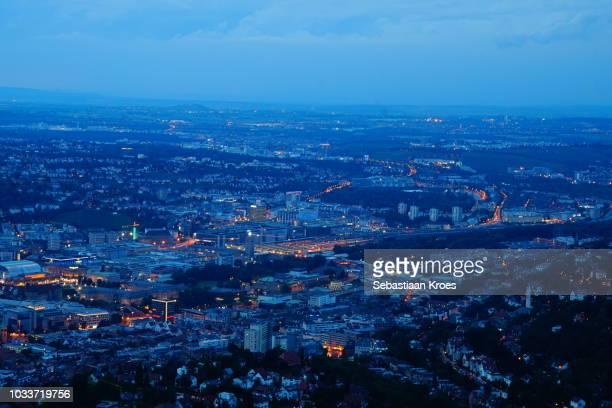 Stuttgart and surroundings, Long Exposure, Dusk, Germany