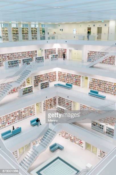 stuttgart city library modern public library - stuttgart stock pictures, royalty-free photos & images