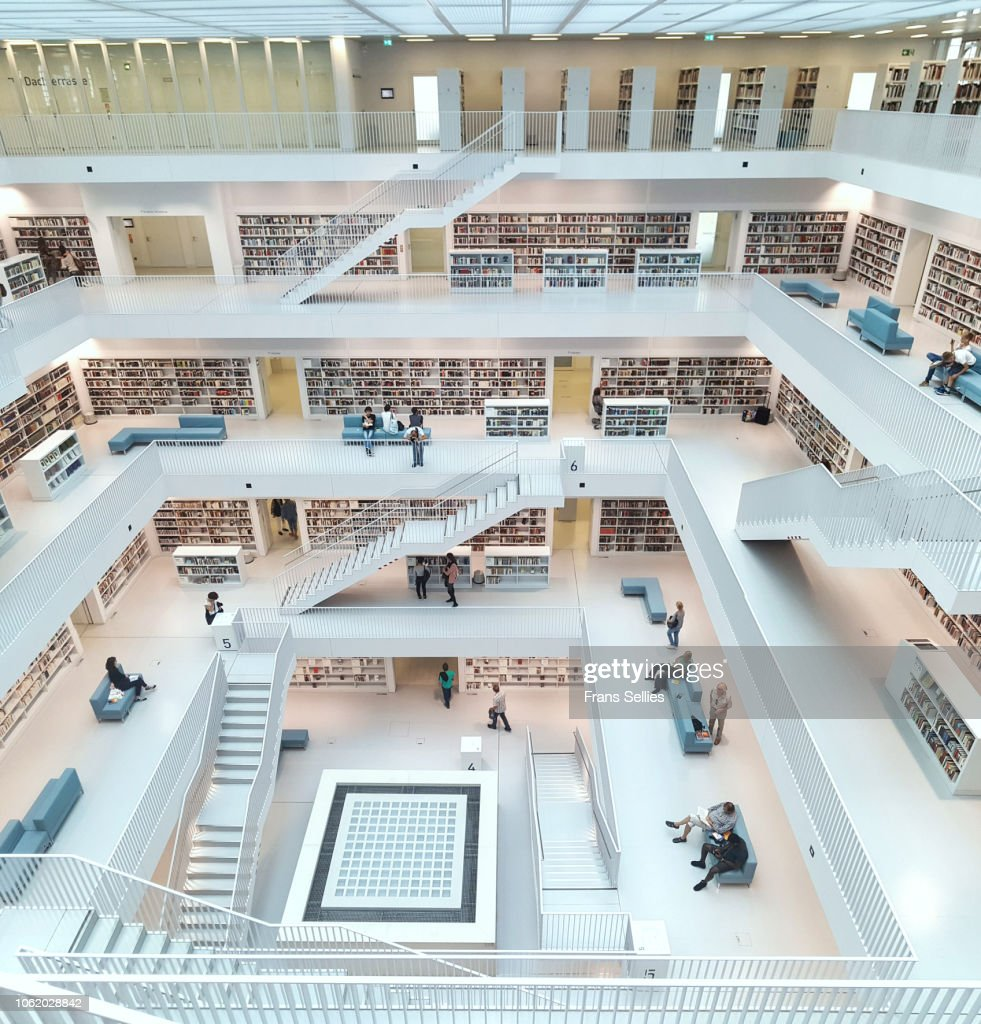 Stuttgart City Public library (Stadtbibliothek), Germany : Stock Photo
